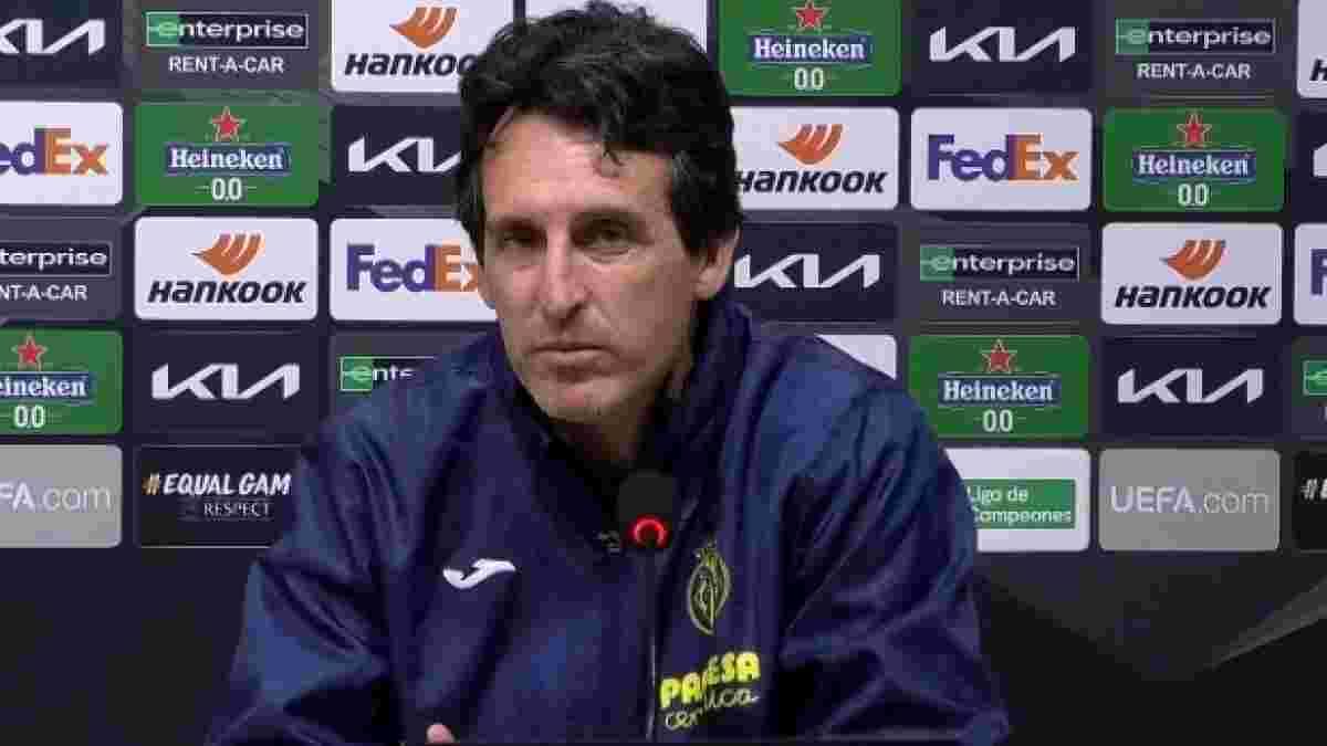 Емері: Динамо буде грати у свій футбол, але Вільяреал хоче не просто виграти, а перемогти впевнено