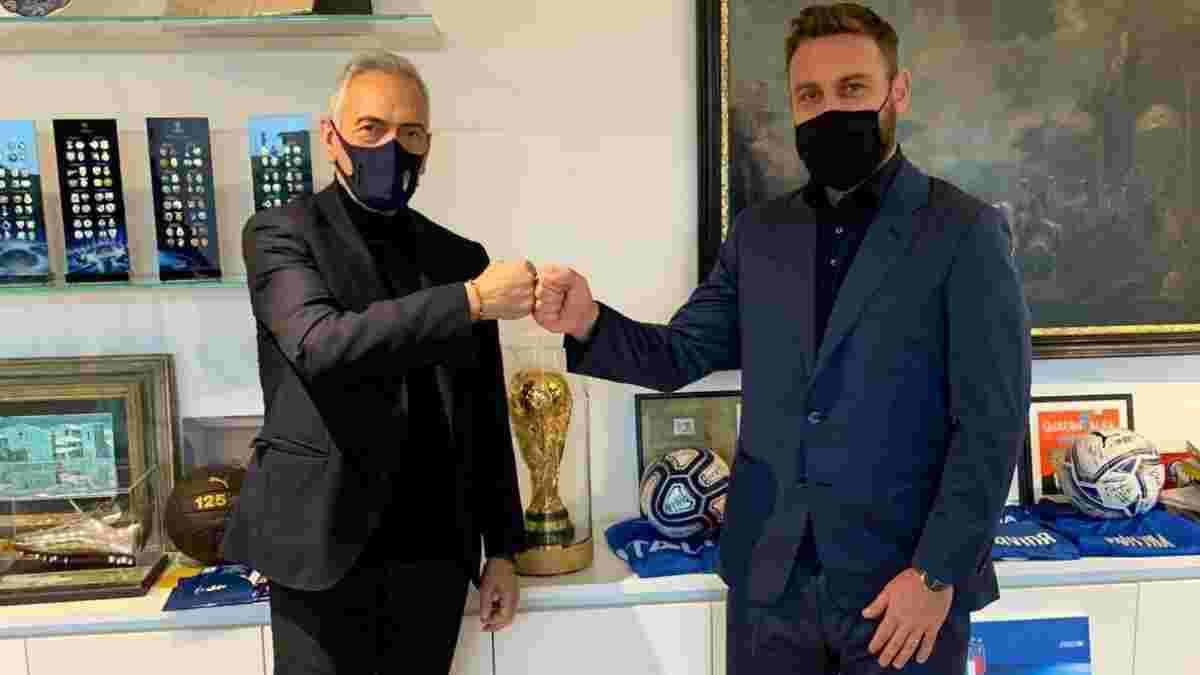 Де Росси вошел в тренерский штаб сборной Италии