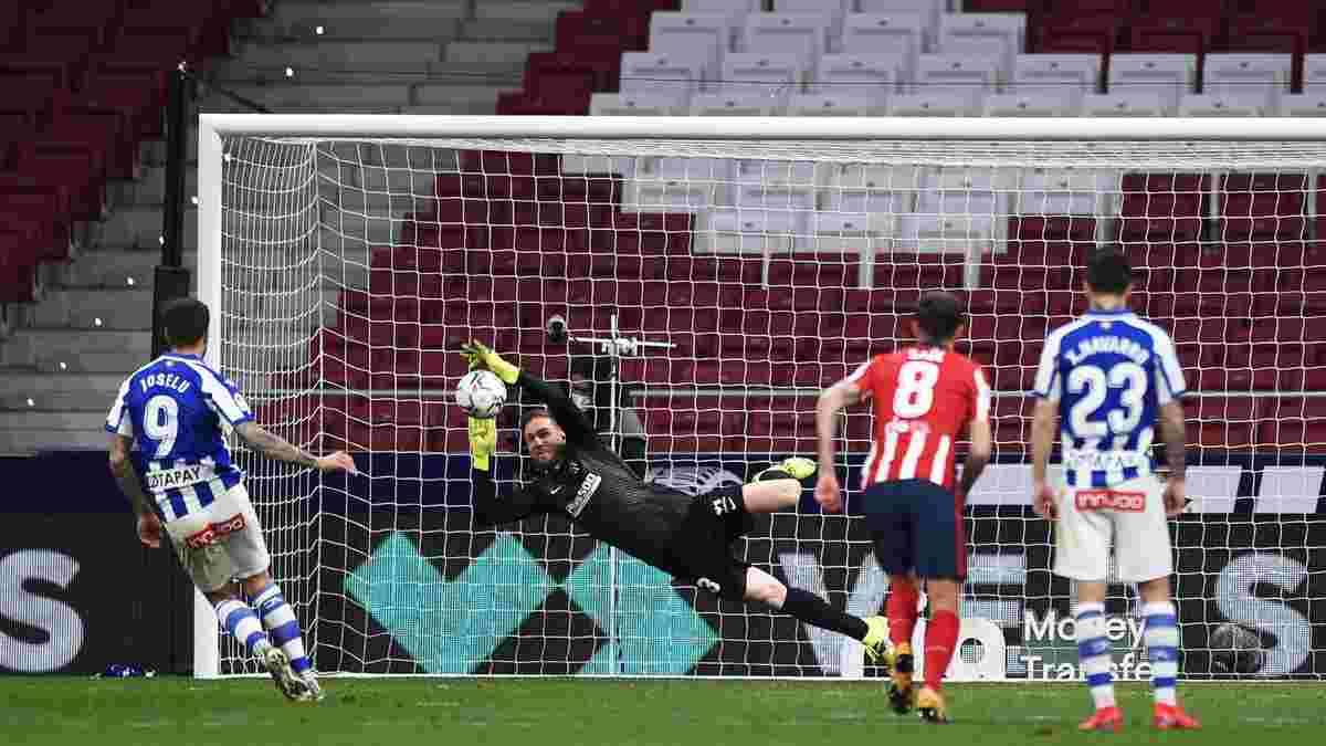 Атлетико благодаря голу Суареса и вратарскому мастерству Облака удержал победу над Алавесом