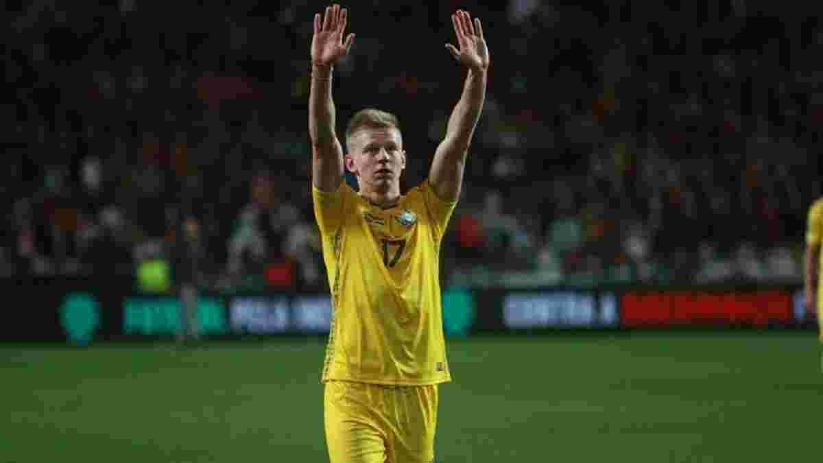 Зінченко став наймолодшим капітаном в історії офіційних матчів збірної України – позаду Шевченко, Лужний та інші легенди