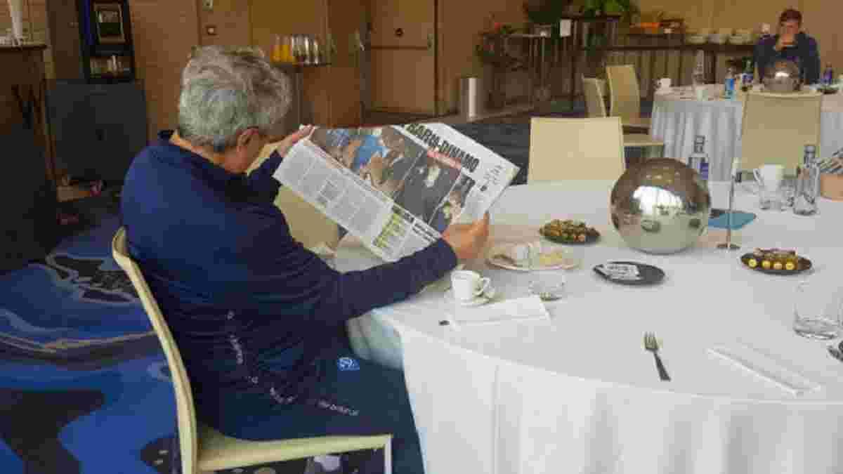 Луческу з товаришами зібрався у ресторані Бухареста, щоб повболівати за Румунію – колоритне фото