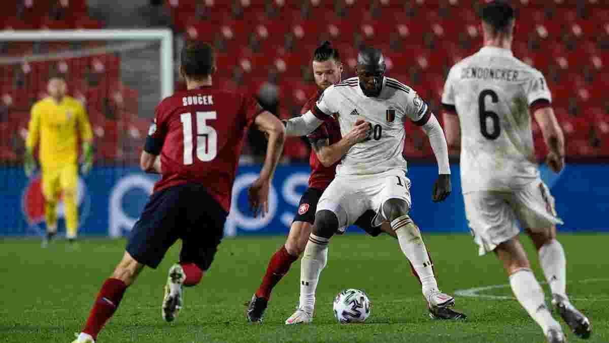 Бельгия избежала поражения от Чехии благодаря фирменному голу Лукаку – Де Брюйне устроил шоу, Соучек и Ко дали бой