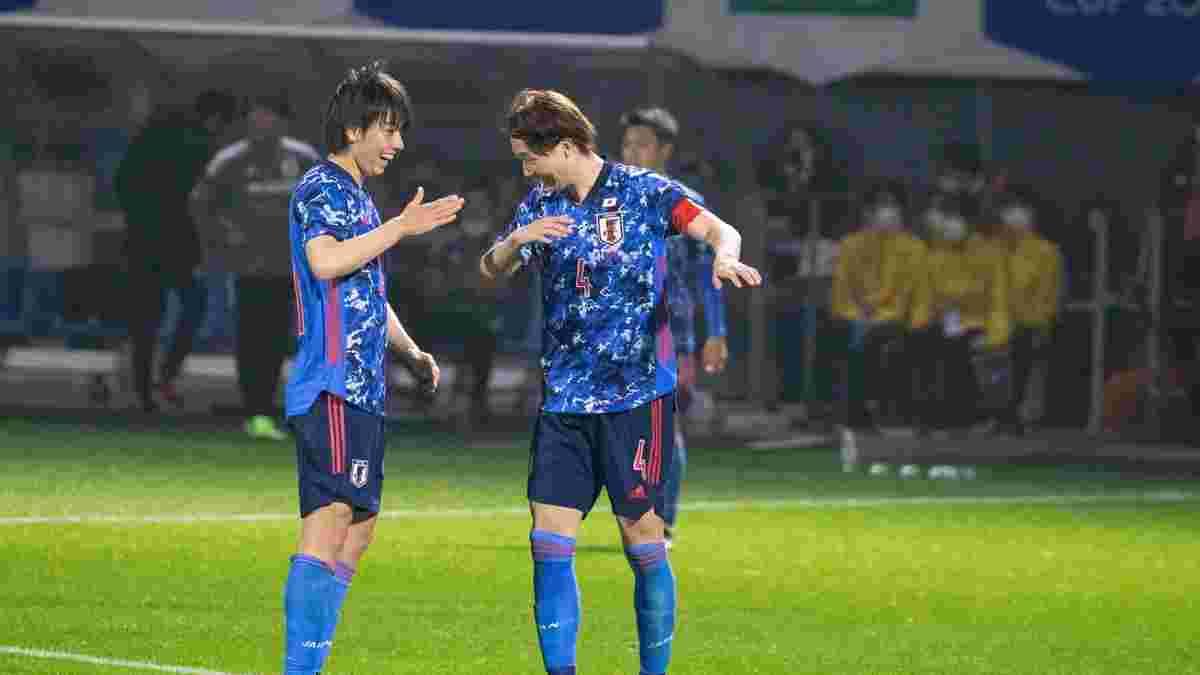 Відбір ЧС-2022: Японія пошматувала Монголію з двозначним числом голів – до вічного рекорду не вистачило одного м'яча