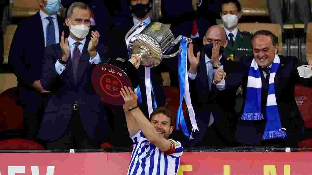 Экс-звезда Реала сыграл гимн Сосьедада на трубе – роскошное празднование триумфа в Кубке Испании