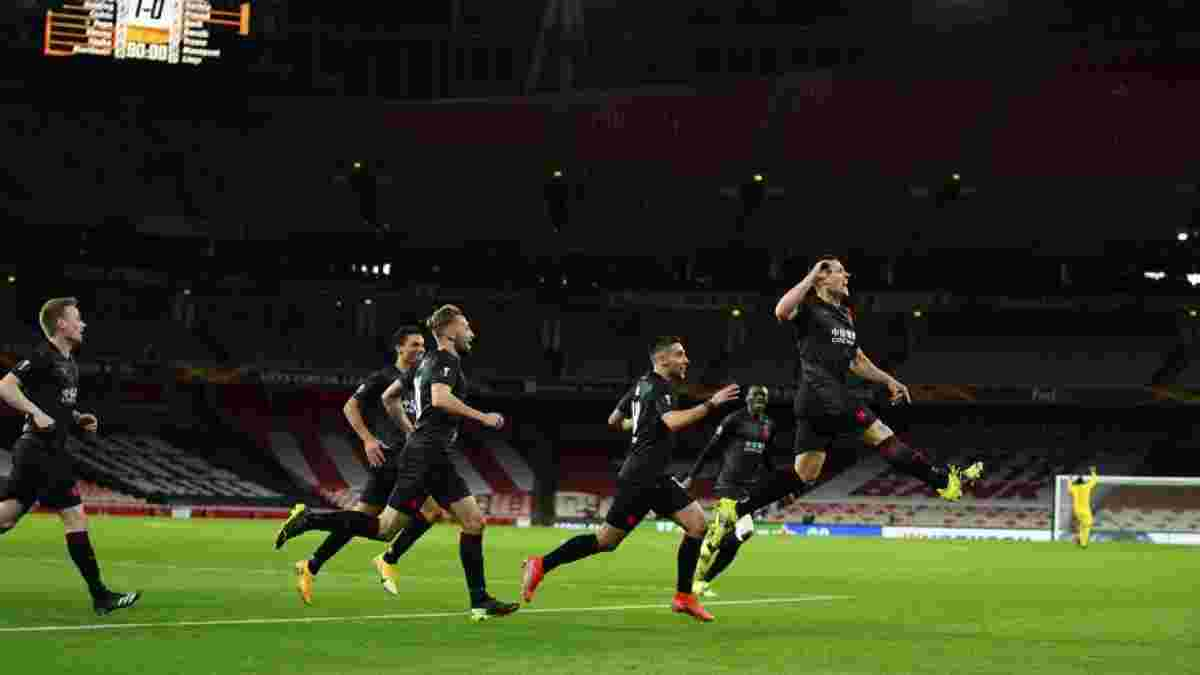 Спасение чехов на последних секундах в видеообзоре матча Арсенал – Славия – 1:1