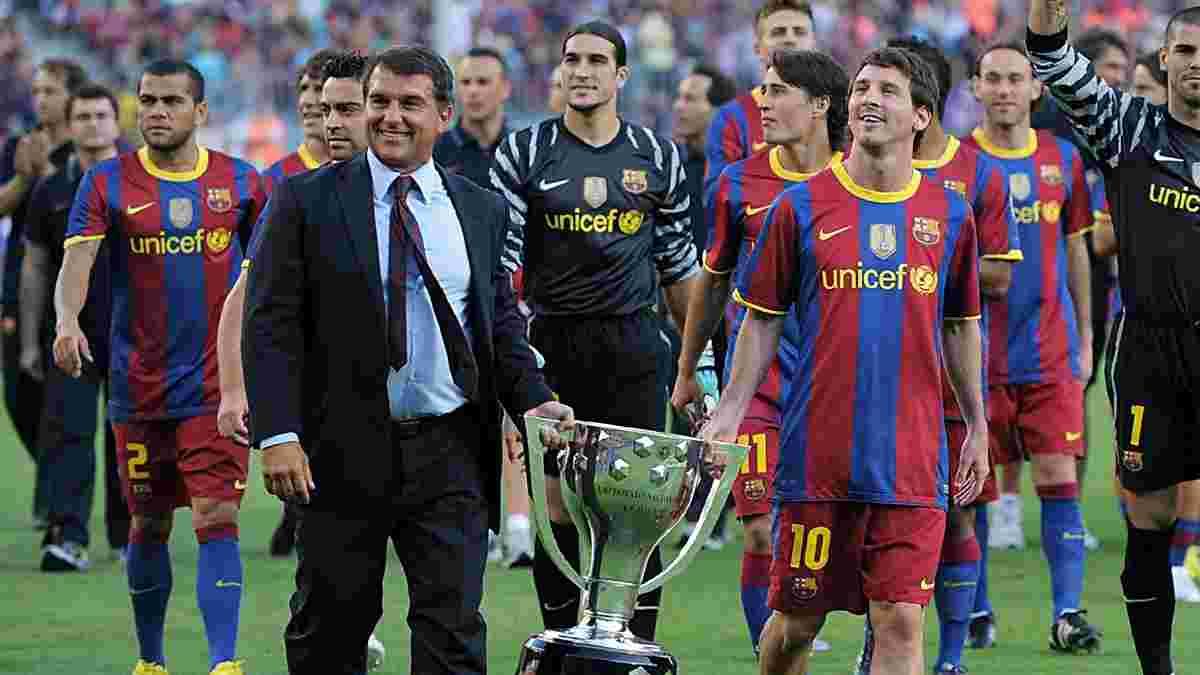"""Лапорта особисто полетів з гравцями Барселони на матч проти Реала – президент може стати """"чорною міткою"""""""