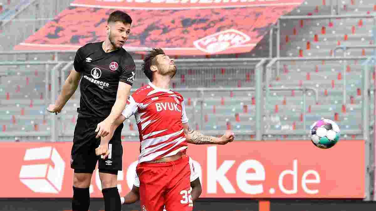 Шуранов второй раз в сезоне забил за Нюрнберг – голу помог удивительный курьез соперника