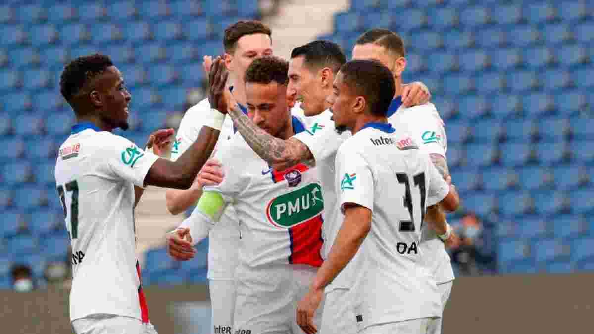 ПСЖ знищив Анже за путівку у півфінал Кубка Франції, Монако несподівано вибив Ліон