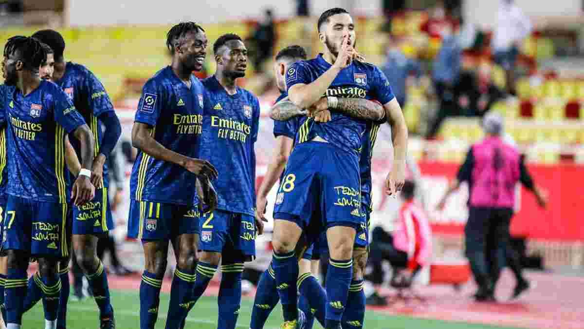 Монако – Лион: матч завершился массовой потасовкой с четырьмя удалениями