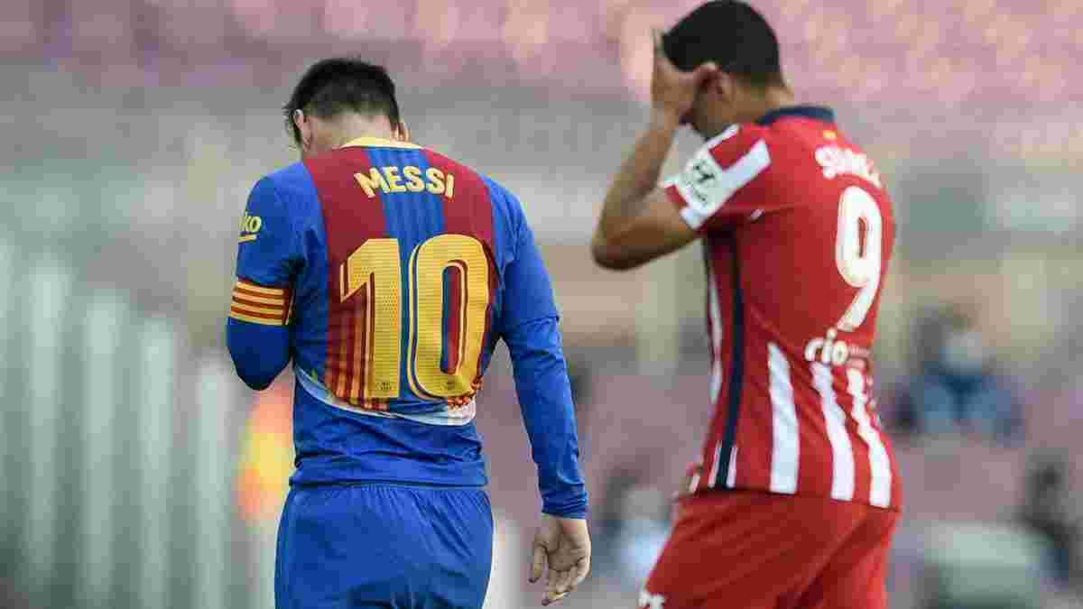 Барселона – Атлетіко: Мадрид тріумфує – найгірші каталонці за 56 років, тріснута щелепа, ефектна битва Мессі та Суареса