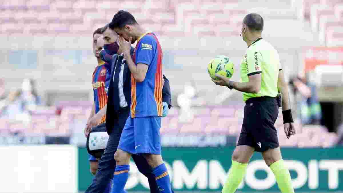 Бускетсу диагностировали перелом челюсти по мотивам матча с Атлетико