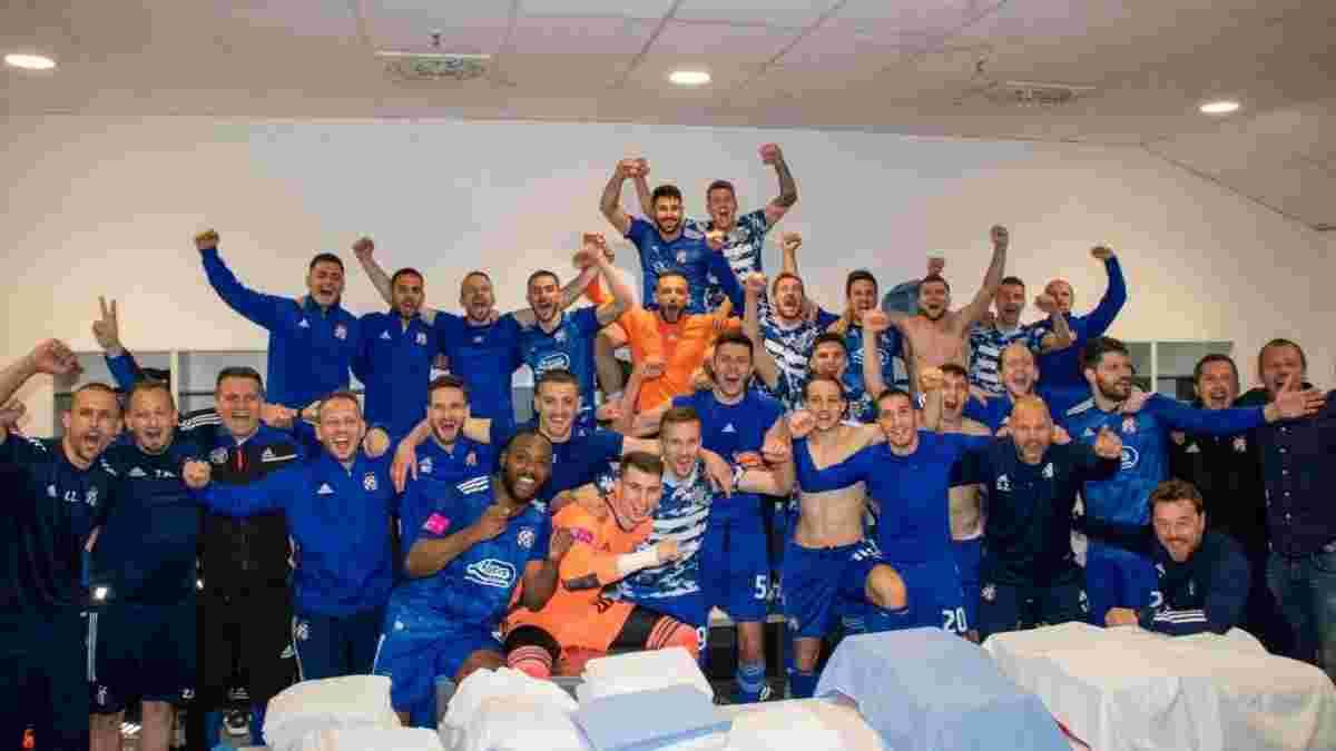 Динамо Загреб курьезным разгромом оформило четвертое подряд чемпионство Хорватии