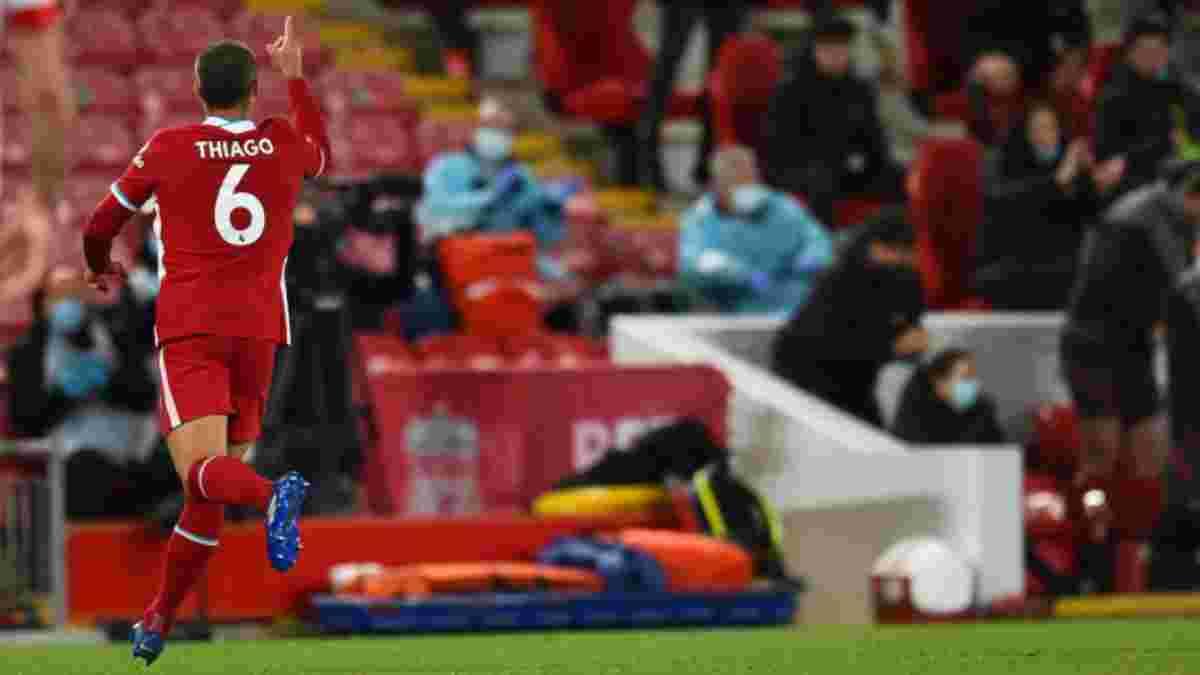 Тьягу объяснил свое оригинальное празднование дебютного гола за Ливерпуль