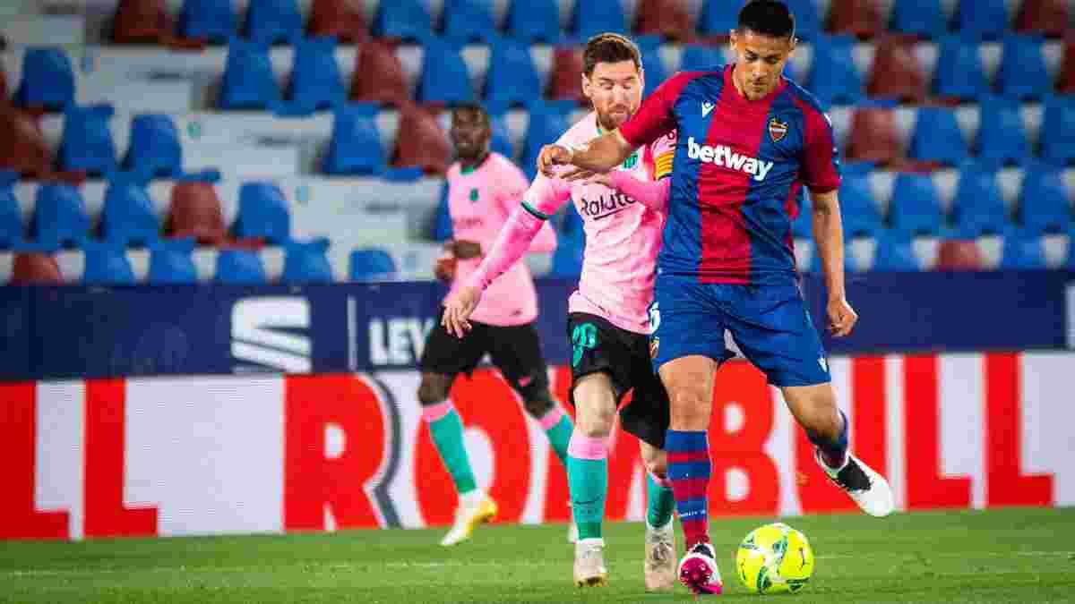 Напрасные усилия Месси и компании в видеообзоре матча Леванте – Барселона – 3:3