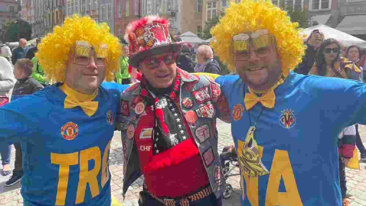 Вільяреал – Манчестер Юнайтед: іспанські фанати заполонили вулиці Гданська – колоритні фото