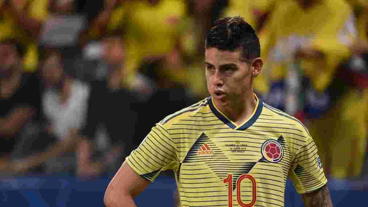 Хамес не потрапив у заявку збірної Колумбії на матчі Копа Амеріка та кваліфікації ЧС – хавбек лютує