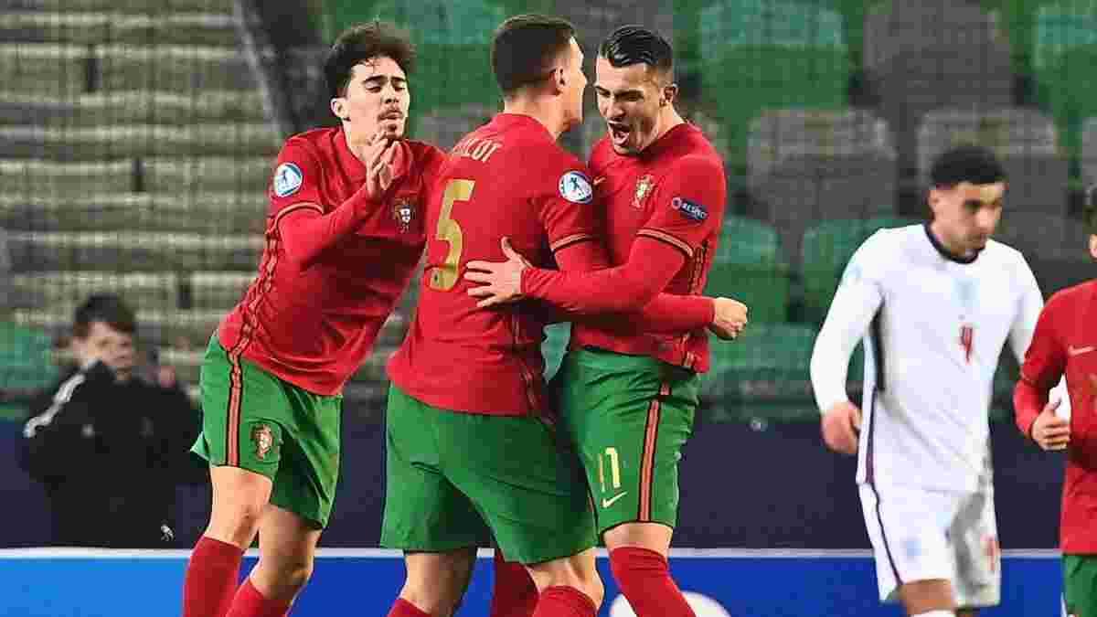 Форвард Португалии огорчил Италию шедевральной бисиклетой – эффектное видео из молодежного Евро