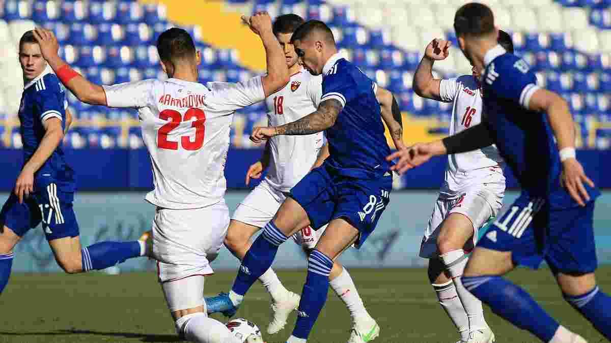 Боснія і Герцеговина не змогла дотиснути Чорногорію, Білорусь програла, забивши першою