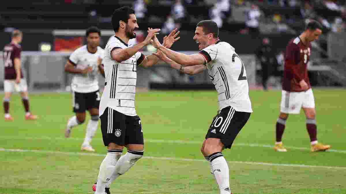 Германия забила 7 голов Латвии в последнем матче перед Евро-2020 – впечатляющий юбилей Нойера и шедевр Гюндогана