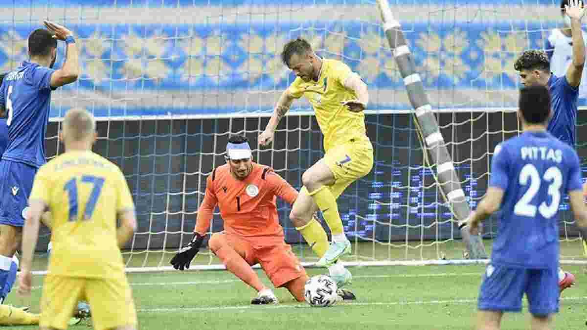 Україна – Кіпр: InStat визначив найкращого гравця товариського матчу