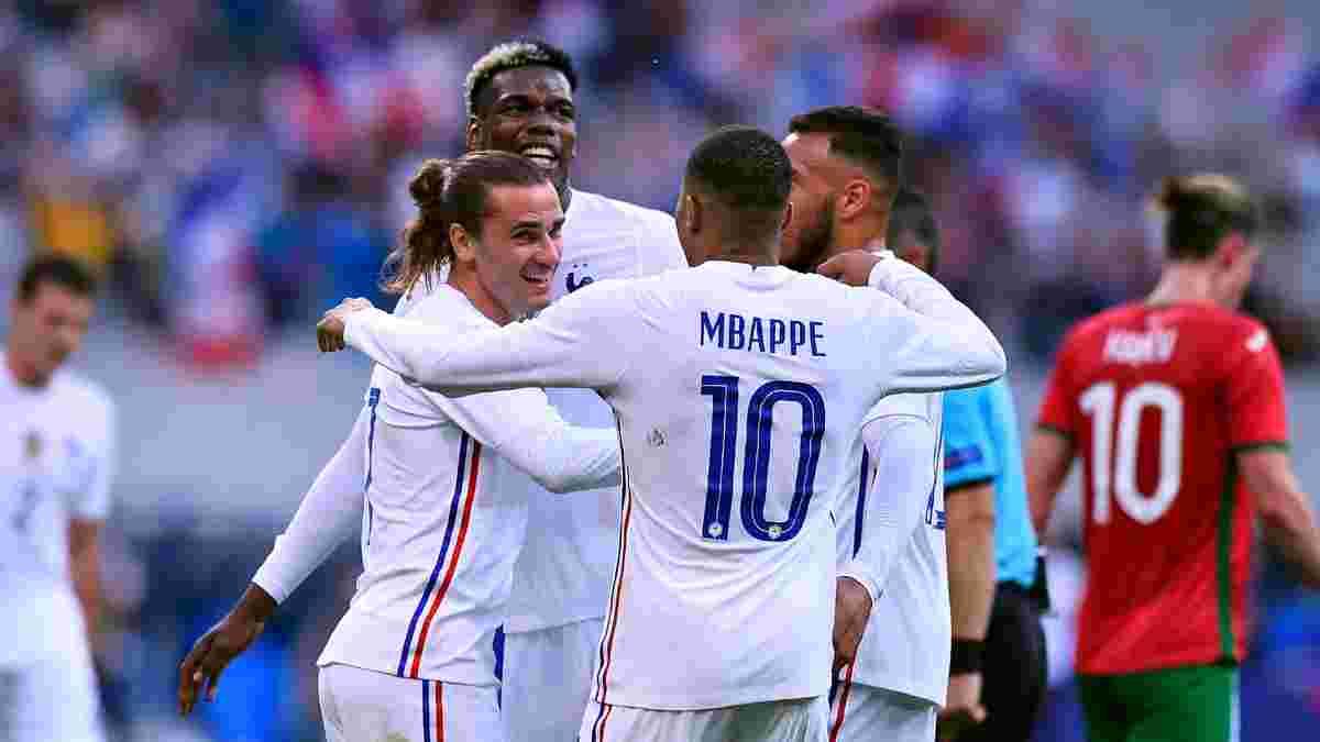 Дубль Жиру та ефектна краса від Грізманна у відеоогляді матчу Франція – Болгарія – 3:0