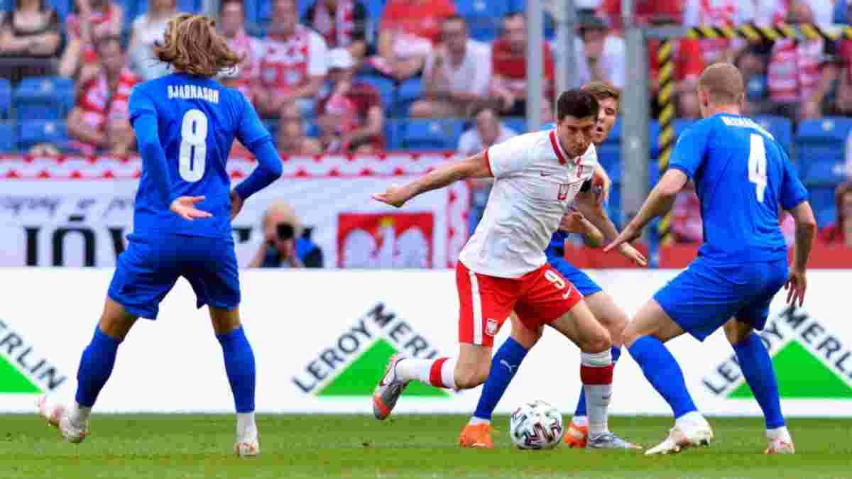 Нічийна перестрілка у відеоогляді матчу Польща – Ісландія – 2:2