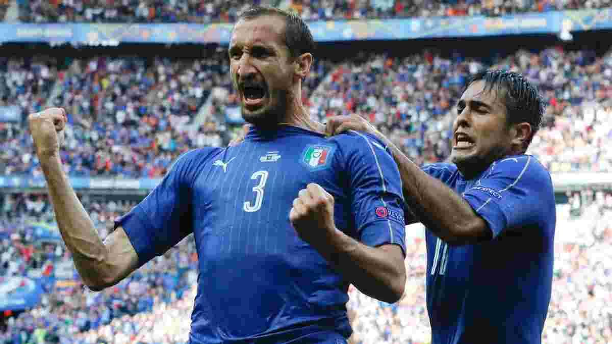 К'єлліні: Інколи можна подуріти – це повинно допомогти Італії на шляху до чемпіонського титулу