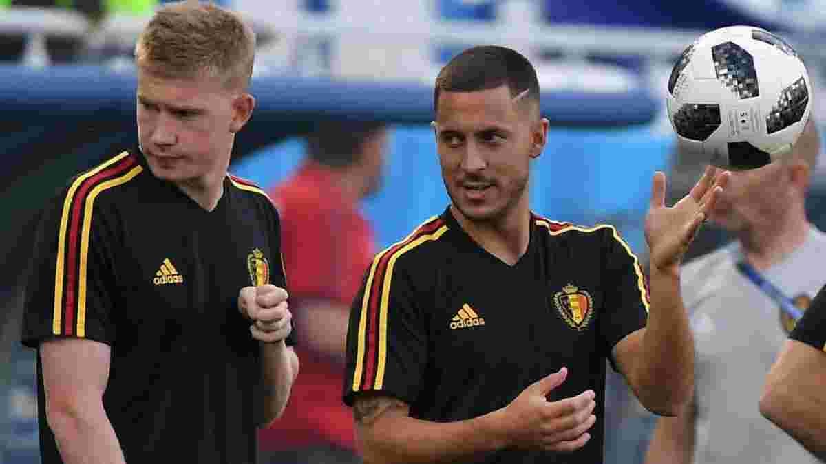 Де Брюйне не зіграє в першому турі Євро проти Росії – Азара не буде в старті