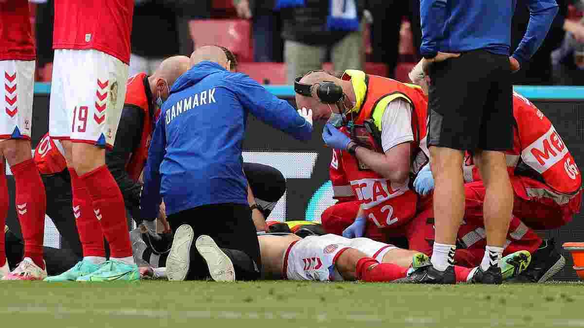Еріксен втратив свідомість на полі під час матчу Євро – жахливі кадри
