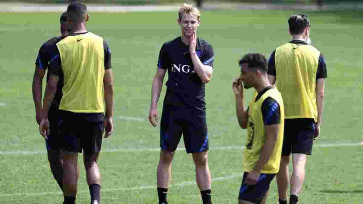 Нидерланды – Украина: де Йонг рассыпался в комплиментах команде Шевченко