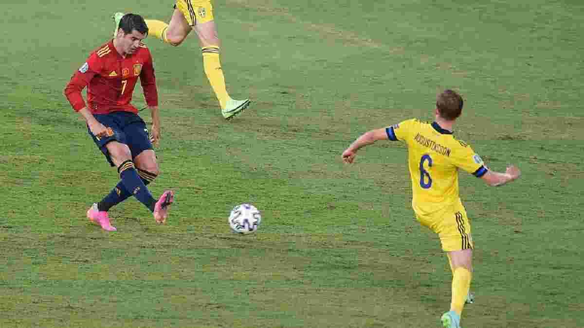 """Героїчний голкіпер і дебютні """"нулі"""" Євро у відеоогляді матчу Іспанія – Швеція"""