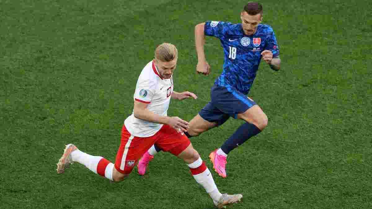 Унікальний автогол голкіпера і перше вилучення на Євро-2020 у відеоогляді матчу Польща – Словаччина – 1:2