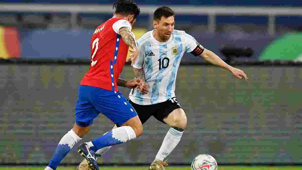 Копа Амеріка: Диво-гол і рекорд Мессі не допомогли Аргентині здолати Чилі, Парагвай розбив Болівію
