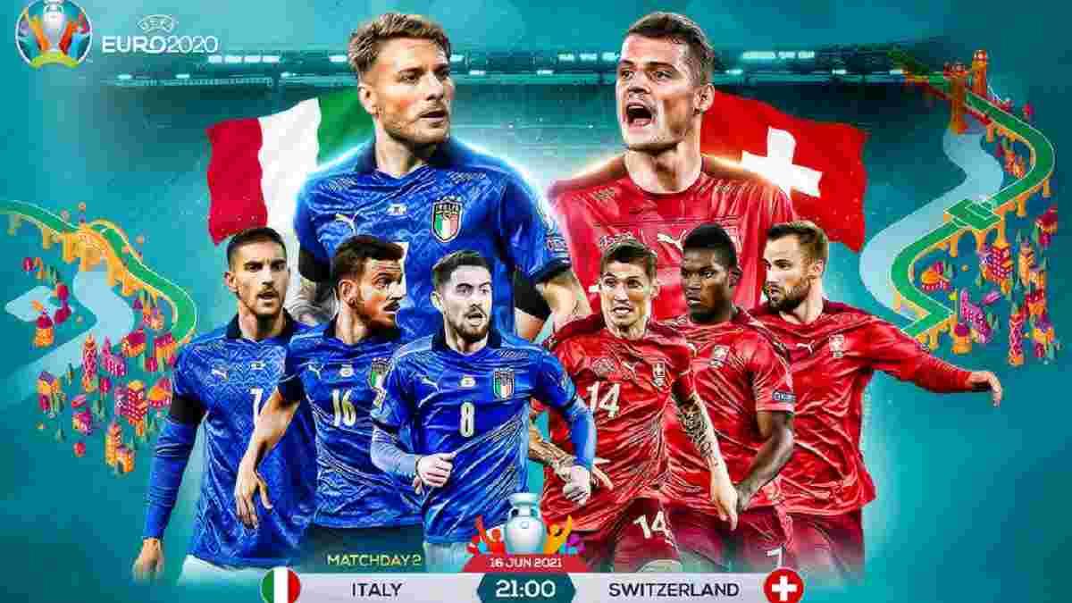 Італія – Швейцарія: анонс матчу Євро-2020