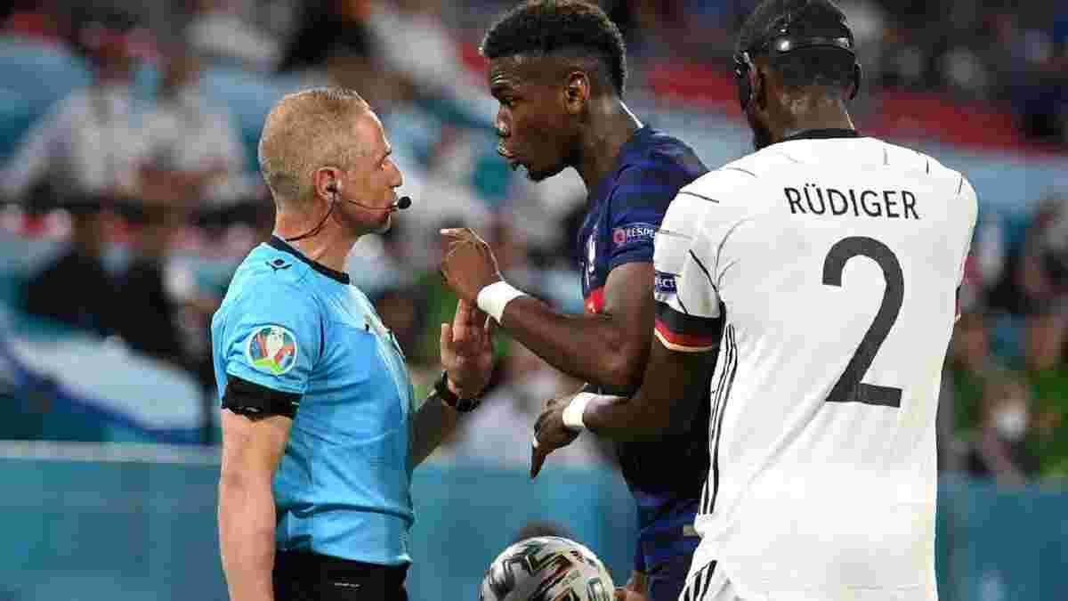 Франція – Німеччина: Рюдігер намагався вкусити Погба – камери зафіксували неоднозначний епізод матчу