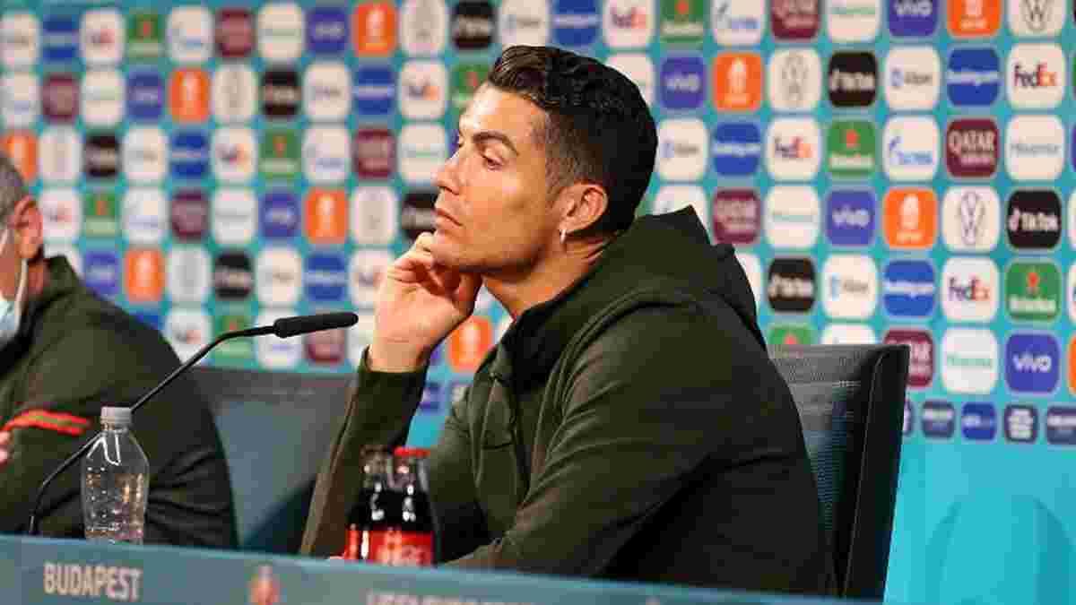 Роналду більше не чіпатиме пляшок з Coca-Cola – УЄФА відреагував на бойкот зірок Євро-2020