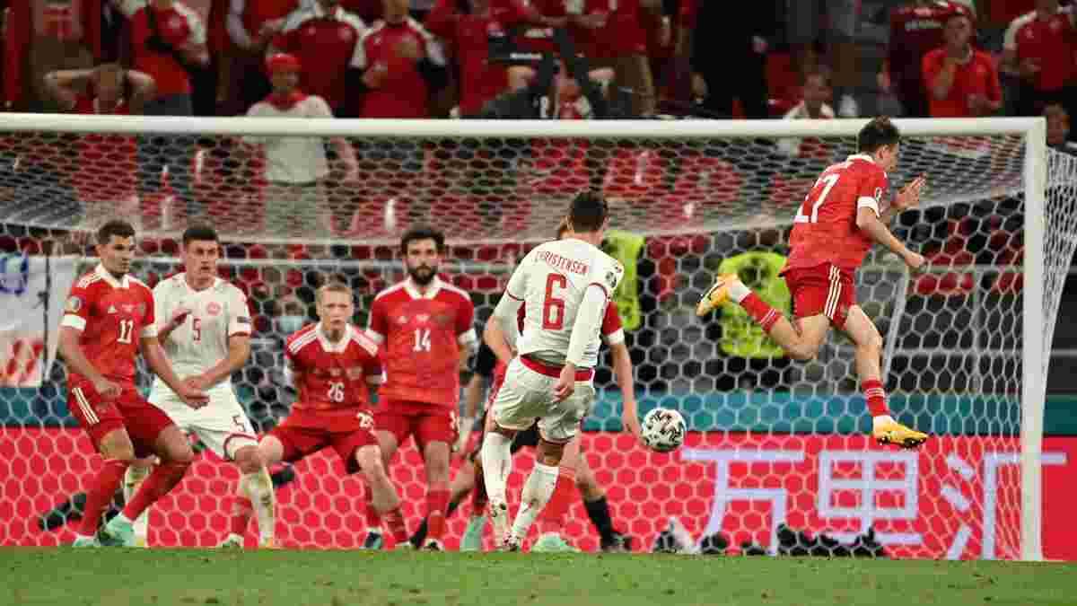 Копенгагенський погром у відеоогляді матчу Росія – Данія – 1:4