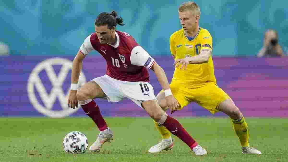 """""""Надо пересмотреть свою игру и отношение к делу"""": Зинченко не сдерживал эмоций после поражения от Австрии на Евро-2020"""