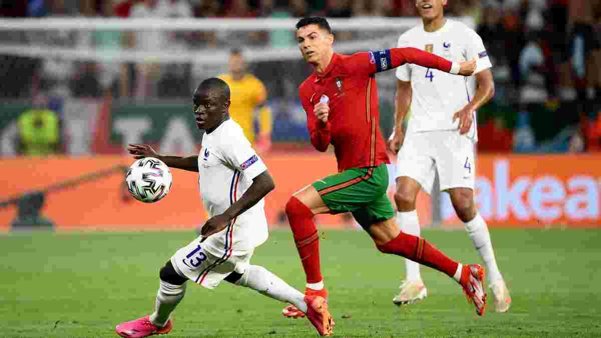 Дублі Роналду та Бензема у відеоогляді матчу Португалія – Франція – 2:2