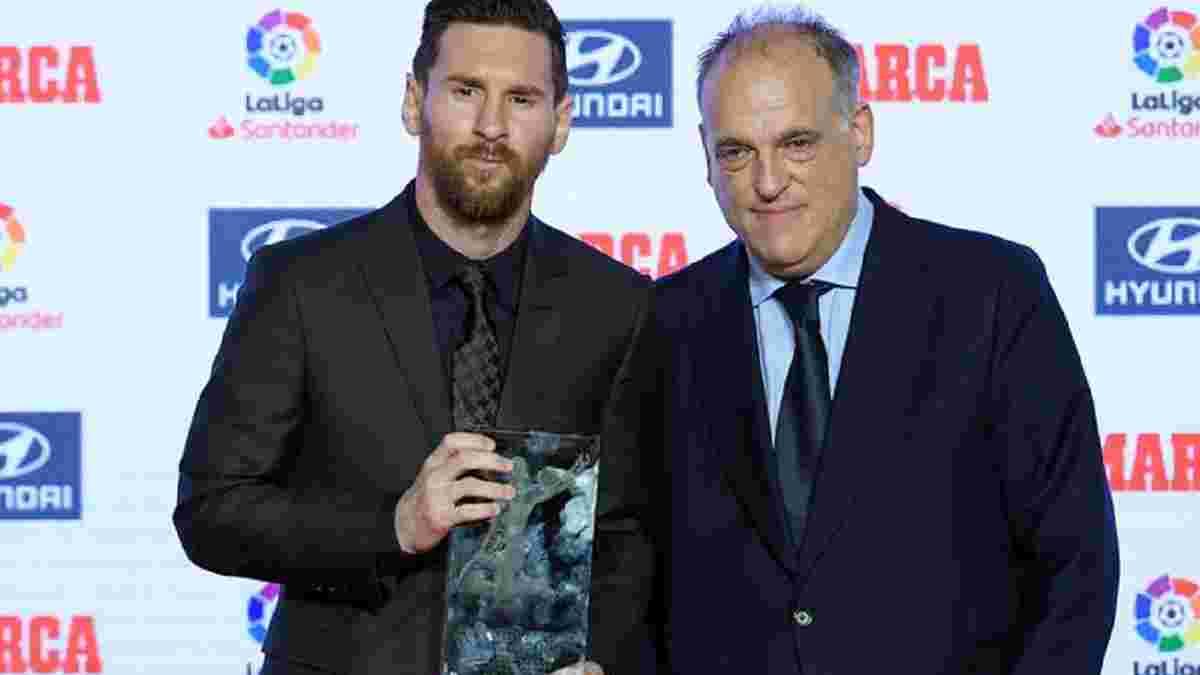 """""""На Барселону приходится половина убытков Ла Лиги, а Реал действовал образцово"""", – президент Примеры"""