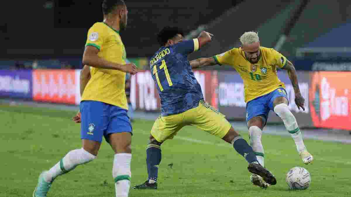 Копа Амеріка: Бразилія дотиснула Колумбію і виграла групу В, Перу та Еквадор обмінялися розкішними таймами