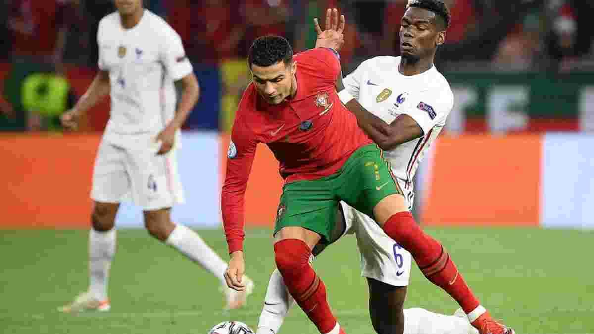 Игрок сборной Португалии феерично уничтожил Погба в матче Евро-2020 – роскошный финт, посадивший француза на задницу