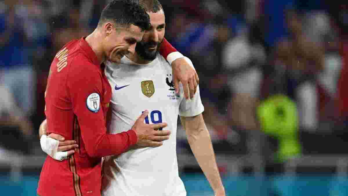 Португалія – Франція: Бензема розкрив зміст розмови з Роналду після виходу в плей-офф Євро-2020