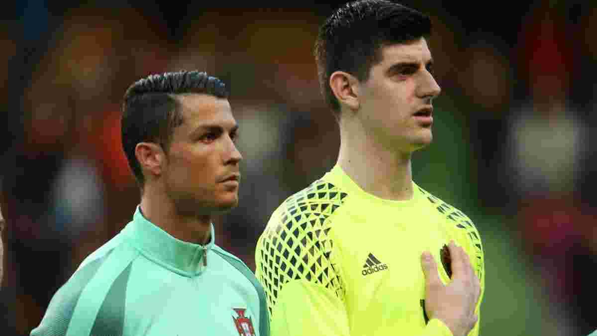Бельгія – Португалія: Куртуа нахабно порівняв себе з Роналду перед зустріччю на Євро
