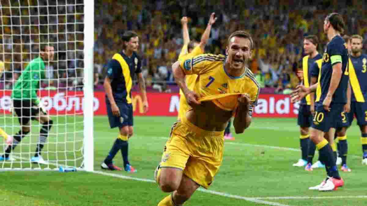 Швеція – Україна: Шевченко пригадав свій прощальний дубль на Євро-2012