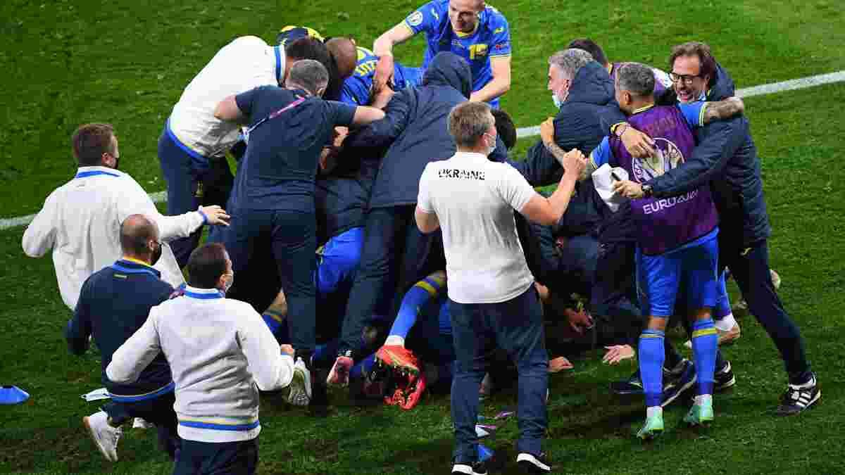 Яремчук устроил дикие танцы в раздевалке после выхода Украины в 1/4 финала Евро
