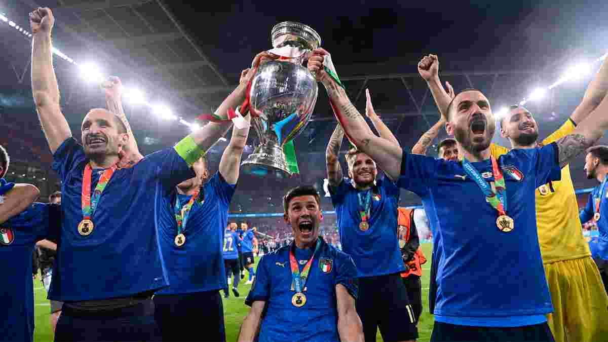"""Італія – Англія: заслужений тріумф """"Скуадри"""" на Євро, К'єлліні і Бонуччі роблять різницю, а Саутгейт покараний за зло"""