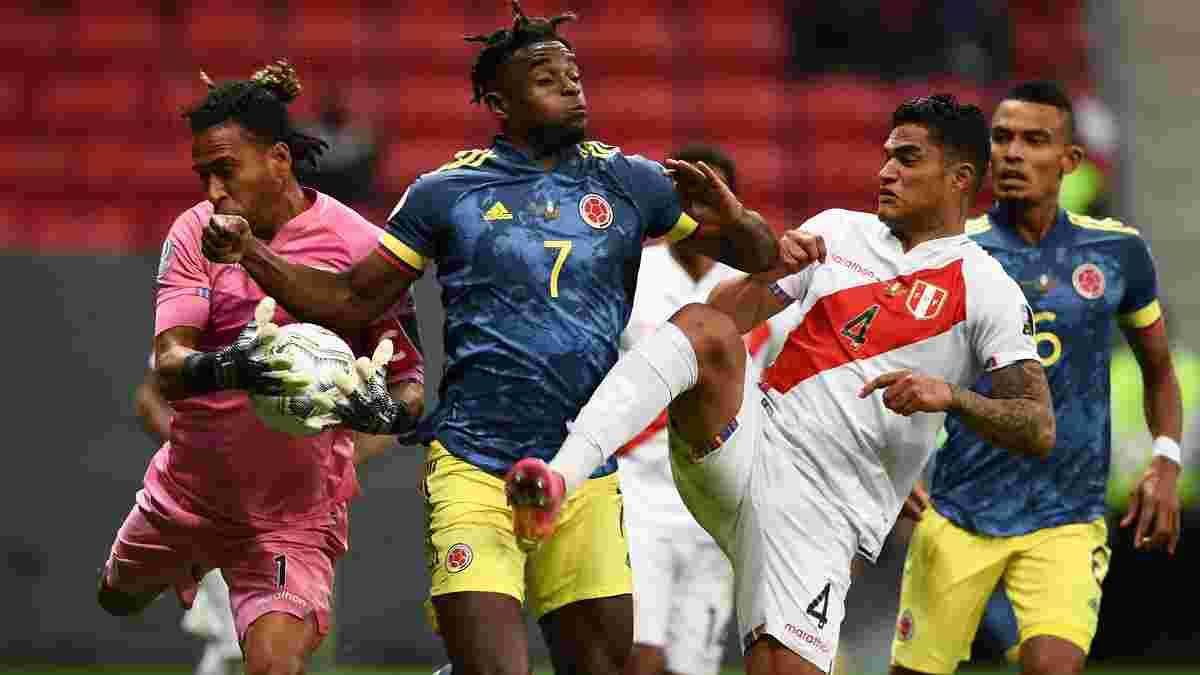 Копа Амеріка: Колумбія у доданий час вирвала перемогу у Перу і стала бронзовим призером турніру