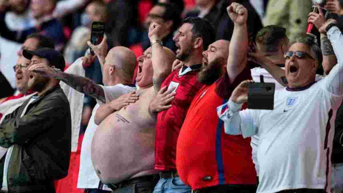 Євро-2020: УЄФА офіційно покарав Англію за поведінку вболівальників під час матчу з Данією