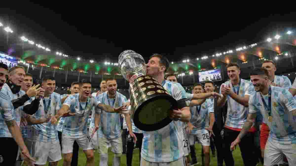 Гравці збірної Аргентини яскравими танцями відсвяткували перемогу на Копа Амеріка-2021 – Мессі не розлучався з трофеєм